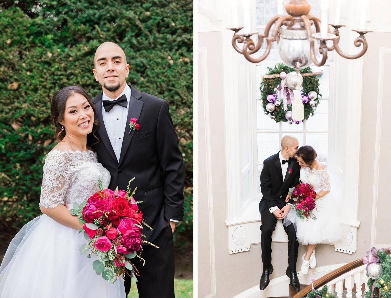 Sunnybrook McLean House Winter Wedding: Karen + Justin