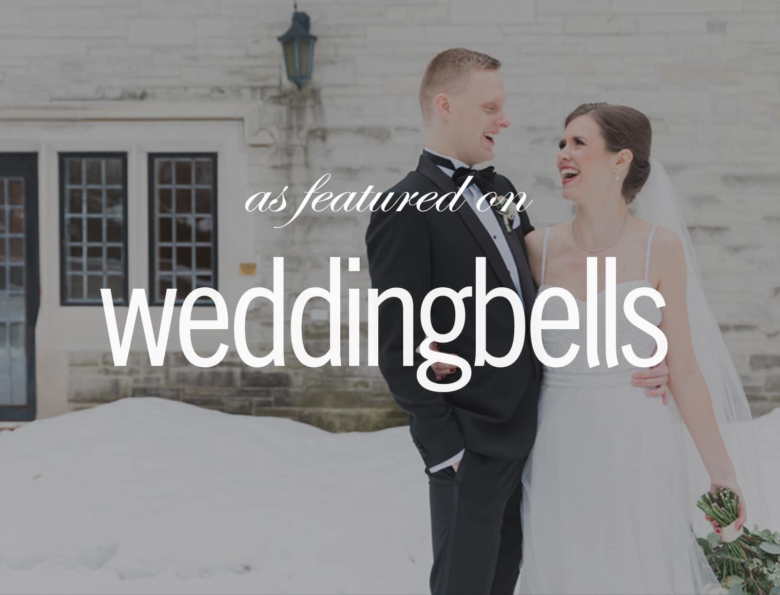 Featured on Weddingbells: Art Deco New Year's Eve Wedding