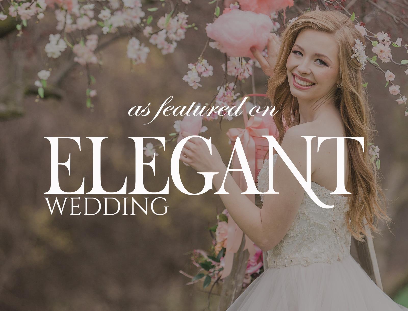 Featured on Elegant Wedding Magazine: Cotton Candy Clouds