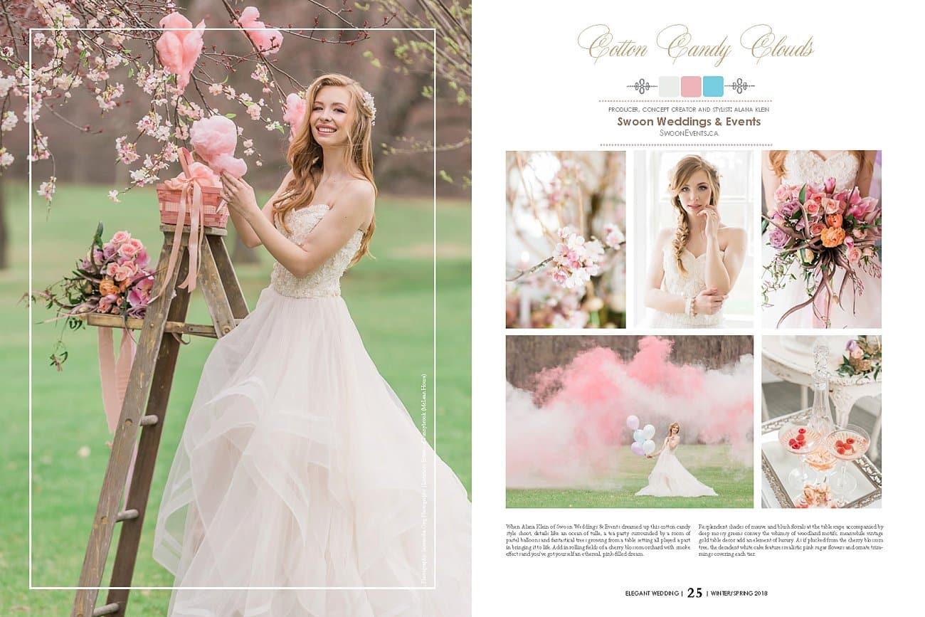 Elegant wedding magazine feature cotton candy clouds editorial elegant wedding magazine feature junglespirit Gallery