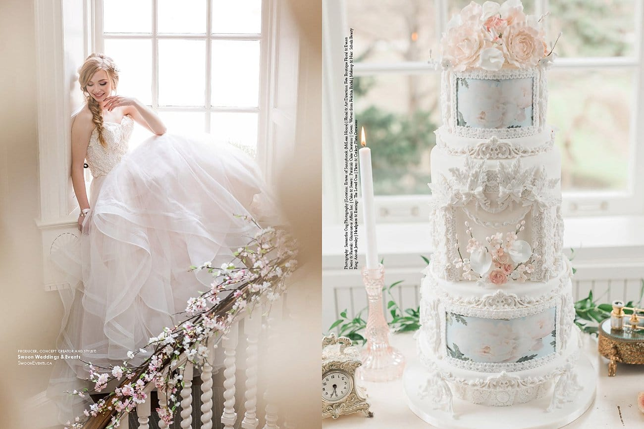 Elegant wedding magazine feature cotton candy clouds editorial so excited to share with you this elegant wedding magazine feature junglespirit Image collections