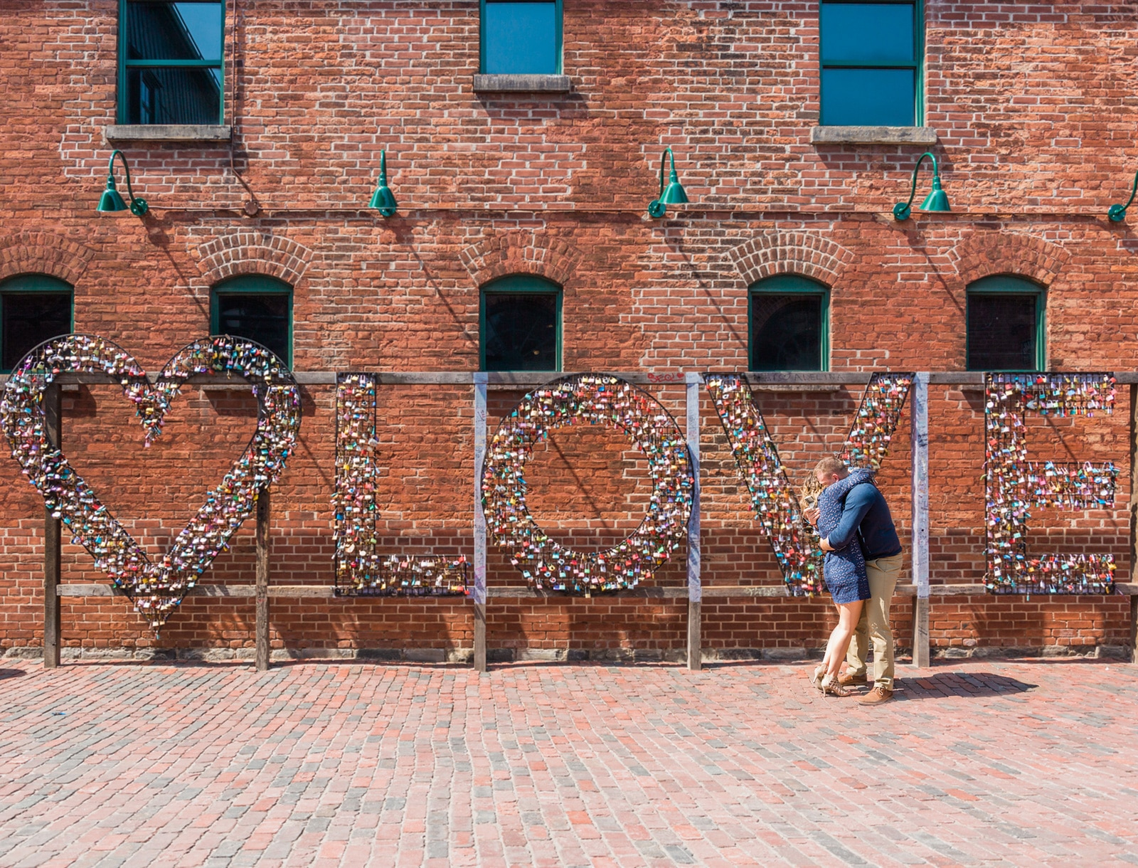 Toronto Distillery District Surprise Proposal: Kaley + Keith