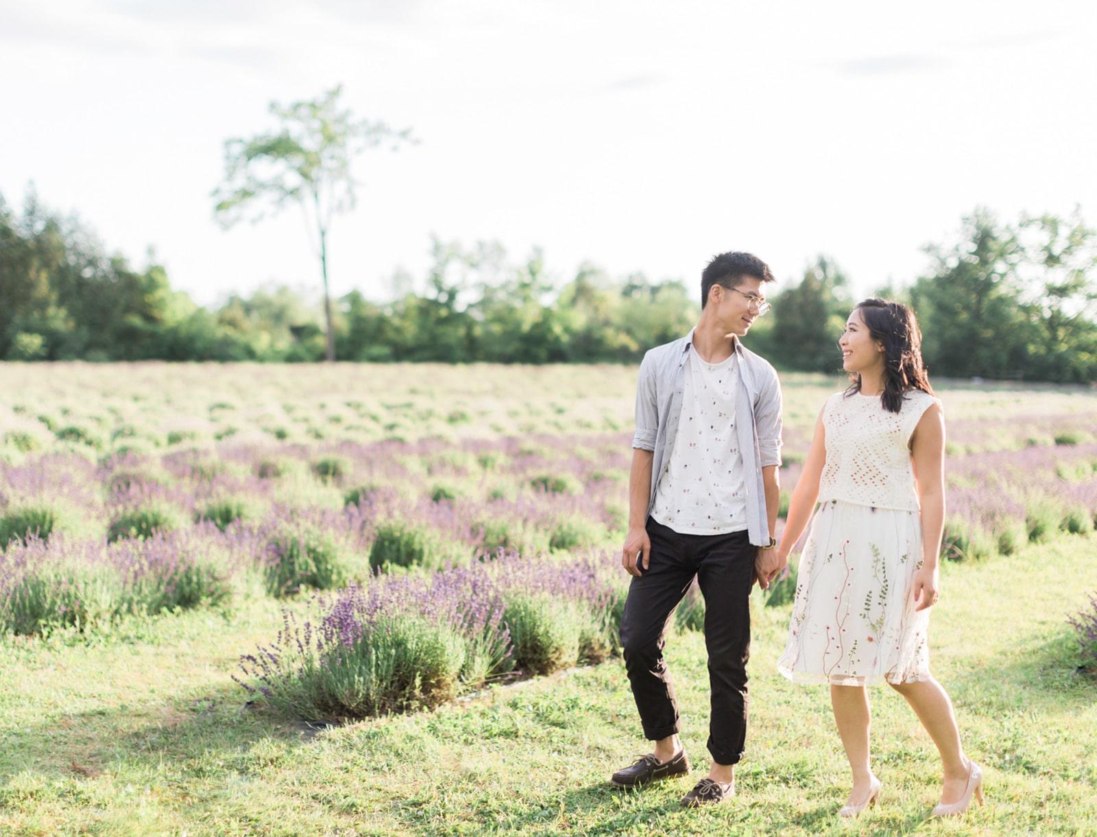 Terre Bleu Lavender Farm Engagement: Tiffany + Edward