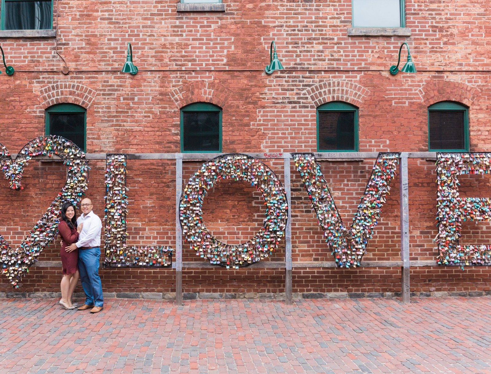 Toronto Distillery District Engagement Photos: Anna + Vince