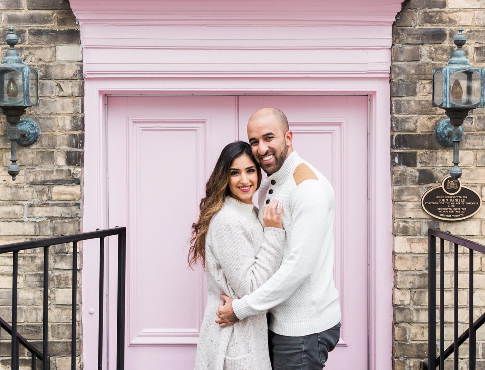 Colourful Downtown Toronto City Engagement: Sheena + Amar