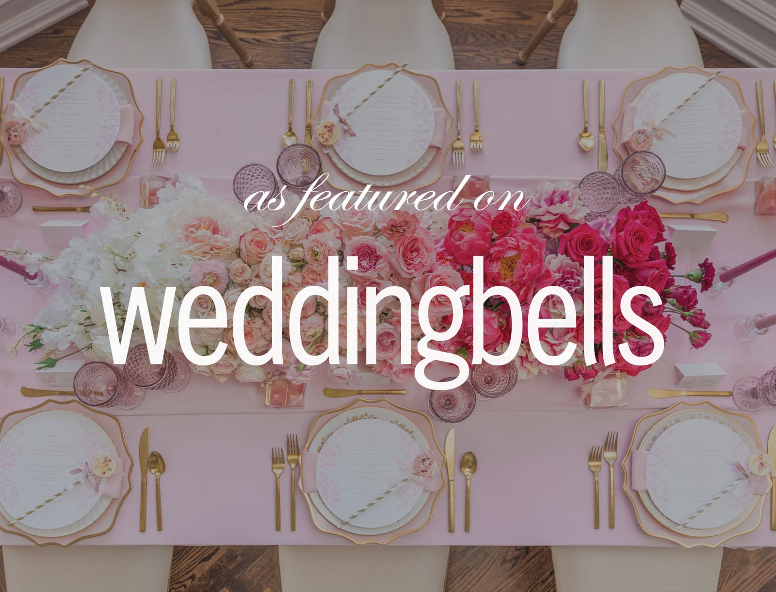 Featured on Weddingbells: Pink Romance Wedding Inspiration