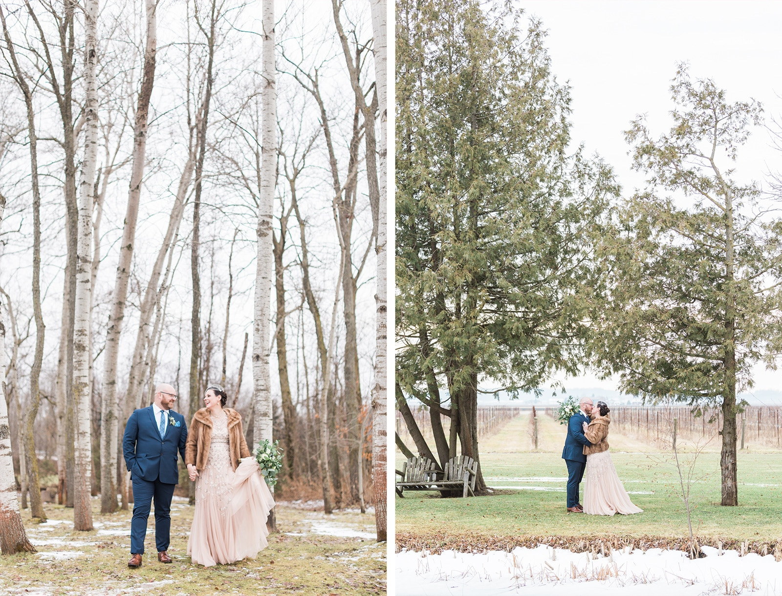 Holland Marsh Winter Wedding: Ingrid + Ryan