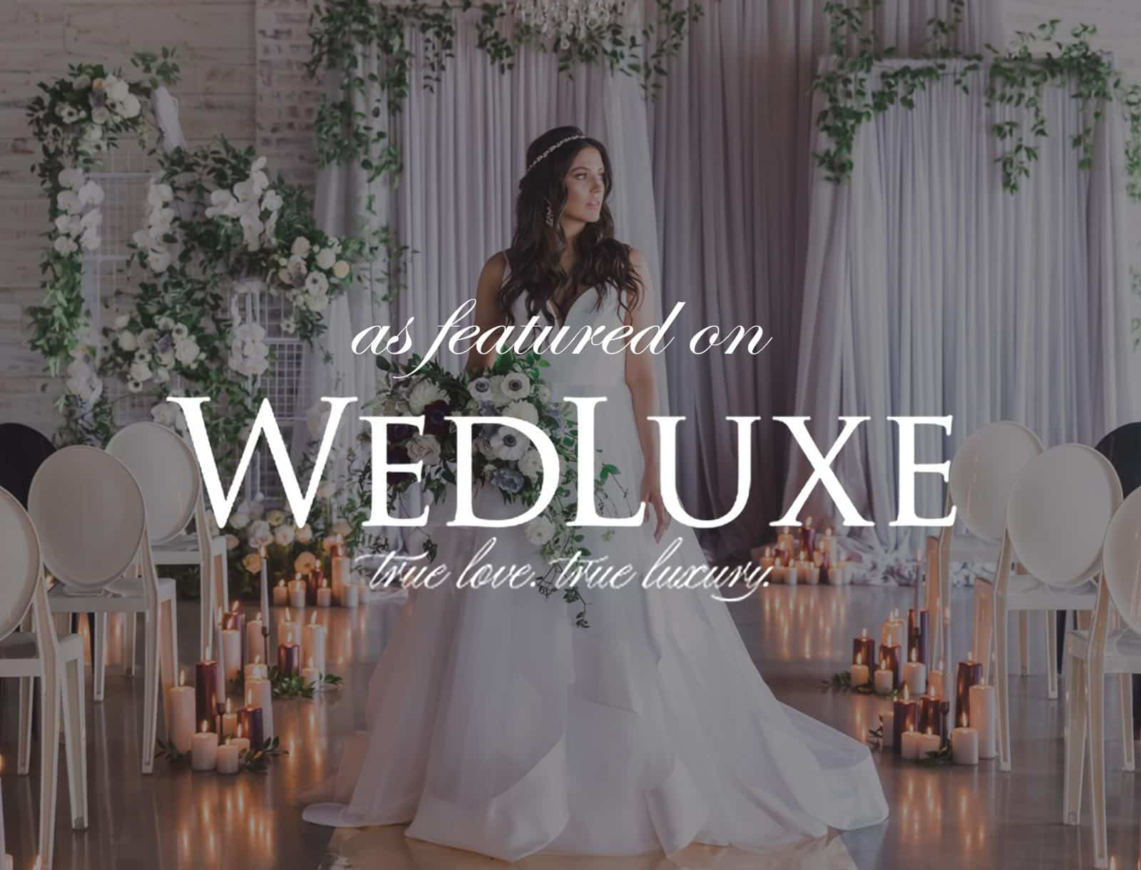 Featured on WedLuxe: Luxe Industrial