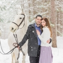 Toronto Engagement Photos in the Snow